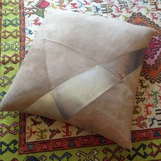Suede and Leather Cushion | Revel Interiors