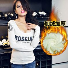 Red Lips Sexy Women Winter T Shirt Clothes Slim Fashion Ladies Tops Comfortable Cotton T-shirt Novel Tees Cheap Clothes China