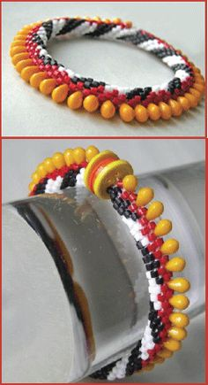 From Circus Bangle e-Book, a pattern set for bead crochet bracelets at Sova-Enterprises.com Lots of Free Beading Patterns and Tutorials are available!