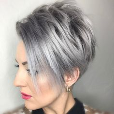 "3,295 Likes, 70 Comments - Arizona Hairstylist (@emilyandersonstyling) on Instagram: ""Back to silver, the blonde didn't last long. #signaturecolor #nothingbutpixies #greyhairdontcare…"""