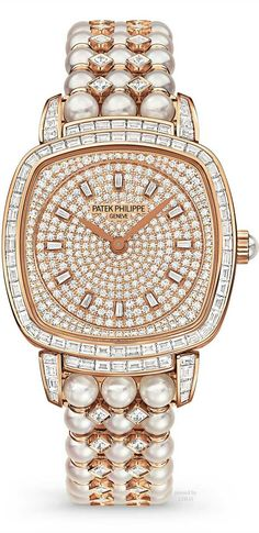 Patek Philippe Watch in diamonds and pearls