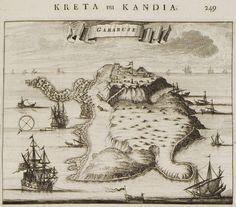 1688 Χάρτης της Γραμβούσας. - DAPPER, Olfert - ME TO BΛΕΜΜΑ ΤΩΝ ΠΕΡΙΗΓΗΤΩΝ - Τόποι - Μνημεία - Άνθρωποι - Νοτιοανατολική Ευρώπη - Ανατολική Μεσόγειος - Ελλάδα - Μικρά Ασία - Νότιος Ιταλία, 15ος - 20ός αιώνας