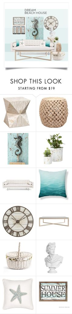 """beach house"" by junethesev7n ❤ liked on Polyvore featuring interior, interiors, interior design, home, home decor, interior decorating, Palecek, Home Decorators Collection, Pier 1 Imports and Design Within Reach"