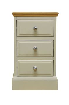 This Large Bedside Cabinet brings the appeal of painted furniture with contrasting oak top for a true twist on country style. Choose from metal or oak knobs supplied with every piece.