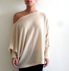 Oversize sweater/ Knitted shirt/ Plus size shirt/ by onor on Etsy, $55.00