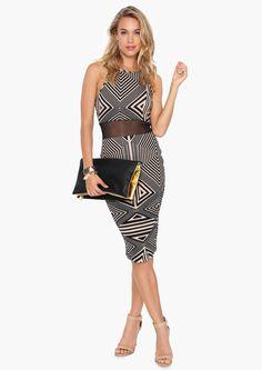 love this geometric dress