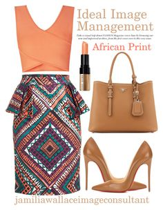 """Ideal Image"" by jamilia-wallace on Polyvore featuring BCBGMAXAZRIA, Christian Louboutin, Prada, Bobbi Brown Cosmetics, women's clothing, women, female, woman, misses and juniors"