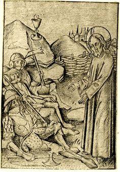 Meckenem, Israhel van 1460-1500 Vhrist and three soldiers in the garden