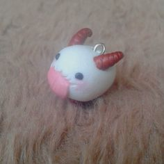 League of Legends Poro, handmade polymer clay kawaii charm, L.O.L.