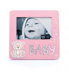 Urso baby Rosa - Porta Retrato