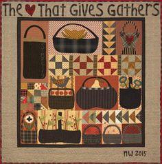 Sampler Quilts, Scrappy Quilts, Mini Quilts, Primitive Quilts, Primitive Crafts, Patchwork Quilt Patterns, Applique Quilts, Wool Applique, Quilting Projects