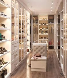 64 Ideas luxury closet design modern for 2019 Walk In Closet Design, Bedroom Closet Design, Master Bedroom Closet, Closet Designs, Bedroom Decor, Bedroom Wardrobe, Closet Rooms, Luxury Bedroom Design, Master Bedrooms
