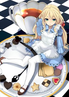 Zerochan | Pixiv | Alice in Wonderland | Alice and Teacup