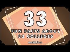 33 Fun Facts About 33 Colleges - mental_floss on YouTube (Ep.43) - YouTube