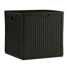 Suncast L x Java Deck Box at Lowe's. 60 Gallon Storage Capacity,Wicker Look Resin Cube Deck Box, Gas Shock Hinged Lid, Double Wall Resin Construction, Assembled Size: x x Patio Storage, Shed Storage, Cube Storage, Outdoor Storage, Storage Benches, Storage Containers, Cubes, Java, Spray Paint Furniture