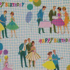 Vintage American Greetings Happy Birthday Wrap by hmdavid, via Flickr