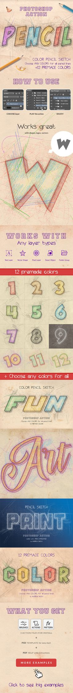 Pencil Text Effects Photoshop Text Effects, Photoshop Actions, Color Pencil Sketch, Logo Sketches, Sketch Photoshop, Sketch 2, Pencil Writing, Retail Logo, Vector Shapes