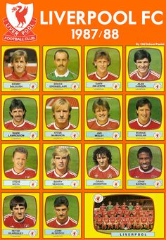 Old School Panini: Liverpool F.C 1988 #LFC