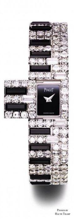 "Limelight ""Secret"" watch - 18-carat white gold case set with 19 brilliant-cut diamonds by Piaget"