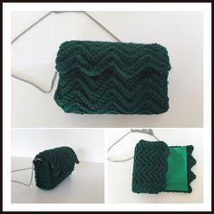 Crochet ripple stitch bag tutorial*Πλεκτή τσάντα με βελονάκι, πλέξη κύμα