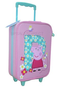 Uncomplicated and attractive. Kids Luggage, Trolley Case, Peppa Pig, Pink Girl, Suitcase, Dolls, Bags, Corner, Closet
