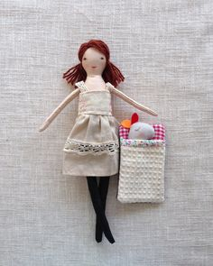 Modern cloth doll Doll with clothes Handmade fabric by Dollisimo