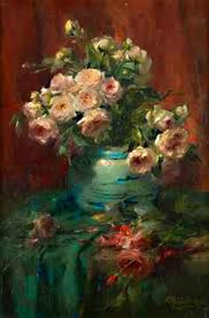 ❀ Blooming Brushwork ❀ - garden and still life flower paintings - Frank Mortelmans