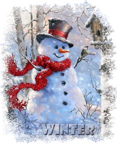 """Photo from album """"Winter"""" on Yandex.Disk - Photo by Soloveika on Yandex. Christmas Scenes, Christmas Past, Christmas Candles, Merry Christmas And Happy New Year, Christmas Pictures, Christmas Snowman, Winter Christmas, Vintage Christmas, Christmas Crafts"""