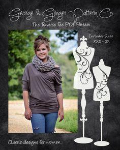 The Traverse Tee (Women's Sizes) PDF Sewing Pattern