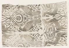 14th century Italian painted linen Fragment