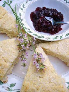 My plate, my world: Strawberry Balsamic Jam with Lemon Lavender Buttermilk Scones Jam Recipes, Dessert Recipes, Cooking Recipes, Bread Recipes, Desserts, Recipe Using Lemons, Lavender Recipes, Culinary Lavender, Strawberry Balsamic