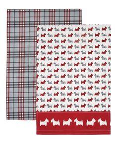 """Kitchen Craft """"Scottie Dog""""-Motiv, Baumwolle, 2 Stück: Amazon.de: Küche & Haushalt"""