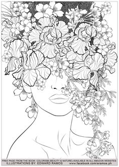 Color therapy An Anti Stress Coloring Book Beautiful Beauty and Nature Edward Ramos 7 Anti Stress Adult Coloring Pages Coloring Pages Nature, Printable Adult Coloring Pages, Mandala Coloring Pages, Coloring Book Pages, Coloring Sheets, Anti Stress Coloring Book, Nature Drawing, Elements Of Art, Drawing Tutorials
