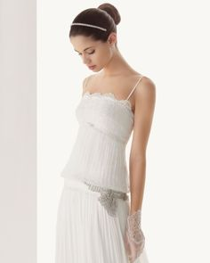 Chemisier-Brautkleid im Stil der 20er Jahre, Kollektion 2013, Rosa Clara