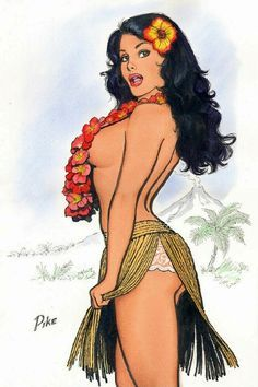 hawaii painting vintage - Google zoeken