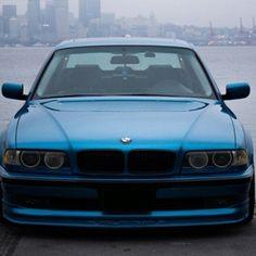 Юбка переднего бампера на BMW 7 E38