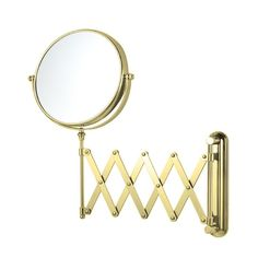 Nameeks Nameeks Glimmer Double Sided Adjustable Arm Magnification Makeup Mirror Satin Nickel -- Check out this great product. Gold Vanity Mirror, Magnifying Mirror, Wall Mounted Mirror, Chrome, Arm, Makeup, Bathroom Accessories, Shaving, Mirrors