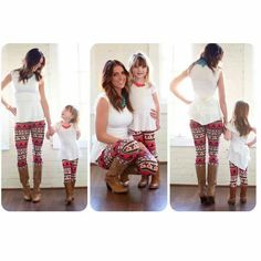 So cute! Love the mommy daughter matching <3