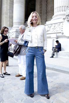 These pants never go out of style!  Lucie de la Falaise
