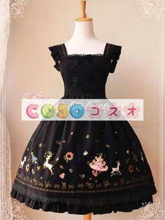 甘いフランネル ボーかわいいロリータ ジャンパー スカート