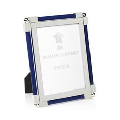 William Yeoward Crystal William Yeoward Classic Shagreen Photo Frame, 4 x 6 Home Photo, Glass Collection, Clear Glass, Vibrant Colors, Crystals, Classic, Style, Dark Blue, Products