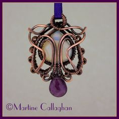 Twist and Turn Wire-wrapped Pendant Tutorial by martic | JewelryLessons.com
