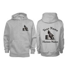 Adult Personalised Barrel Racing Horse Hoodie