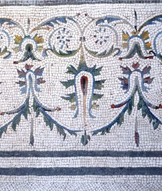 do in perler with vegetables as design elements and then slump for plate or bowl -- Mosaic detail, Pompeii Ancient Ruins, Ancient Rome, Ancient Art, Ancient History, Mosaic Art, Mosaic Glass, Mosaic Tiles, Glass Art, Roman History