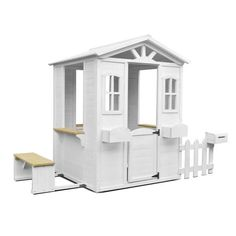 Letting your kid develop their imagination, the Lifespan Kids Teddy Cubby House with Timber Floor allows your child to have their own little house where they can spend hours of entertaining playtime with friends. Cubby Houses, Play Houses, Table With Bench Seat, Metal Swing Sets, Wooden Picnic Tables, Toy House, White Picket Fence, Timber Flooring