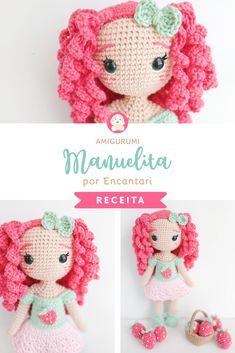 Crochet Doll Pattern, Crochet Dolls, Crochet Hats, Cute Crochet, Beautiful Crochet, Homemade Toys, Doll Tutorial, Waldorf Dolls, Amigurumi