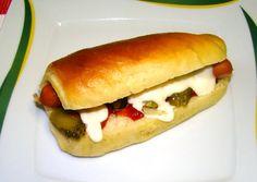 (2) Hot-dog kifli   Varga Gábor (ApróSéf) receptje - Cookpad receptek Hot Dog Buns, Hot Dogs, Bakery, Food And Drink, Pizza, Bread, Restaurant, Cookies, Gastronomia