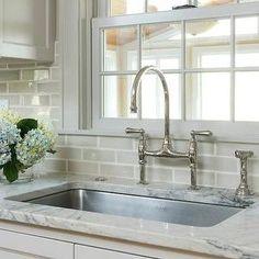 crackle glaze gray tiled backsplash