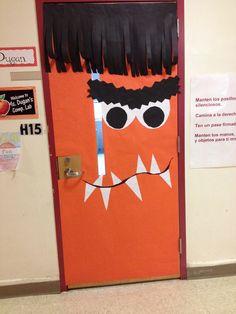 My Halloween monster classroom door