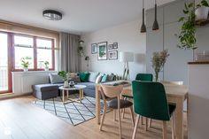 Zielony salon- metamorfoza - Salon, styl skandynawski - zdjęcie od Nowe4Ściany